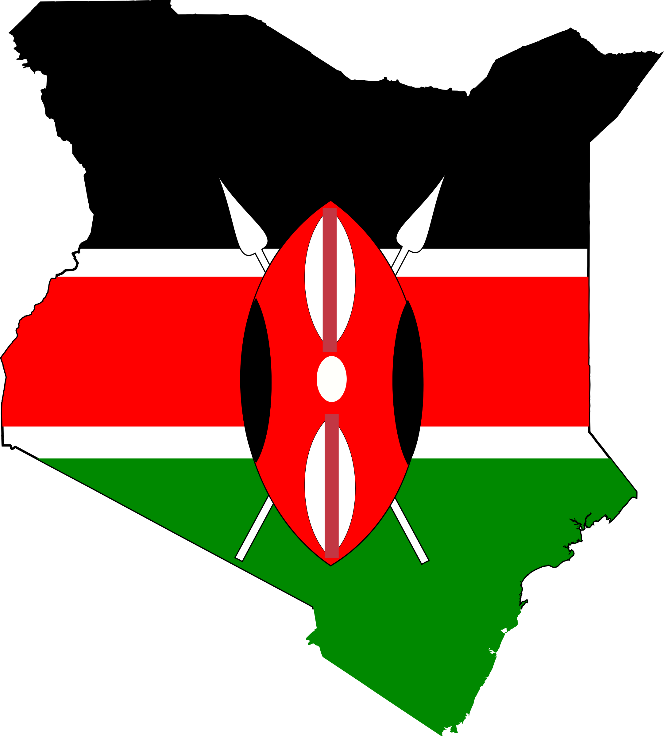 Kenya-flag-map